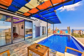 Villa Bebek Duo, Deniz ve Doğa Manzaralı,4 Kişilik | Kalkan Villa