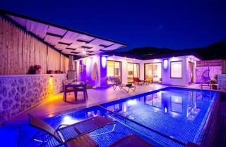 Villa Naz Saribelen, Conservative Honeymoon Villa | Kalkan Villa