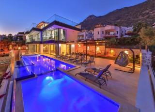 Villa Amelas, Sea View, Heated Pool | Kalkan Villa