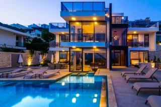 Villa Mirada 1, Kalkan'da 5 yatak odalı , Deniz Manzaralı Villa